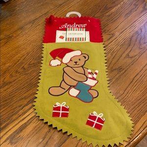 Christmas Stocking - ANDREW Embroidered Name